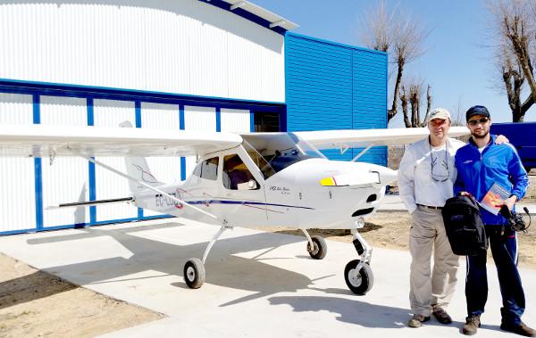 La alegría de un nuevo piloto
